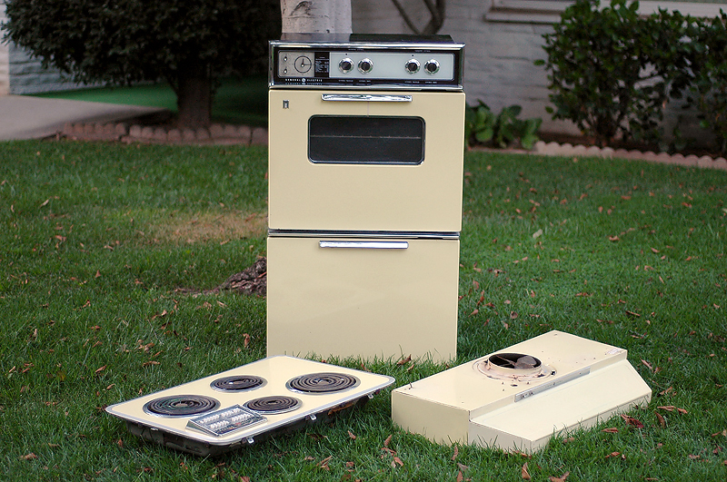 Vintage General Electric Wall Ovens ~ Vintage ge electric wall oven broiler push button